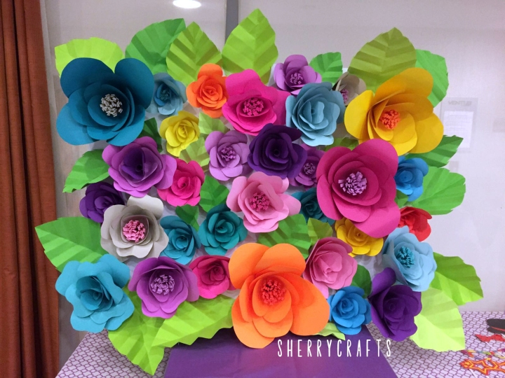 DIY Paper Flower Backdrop