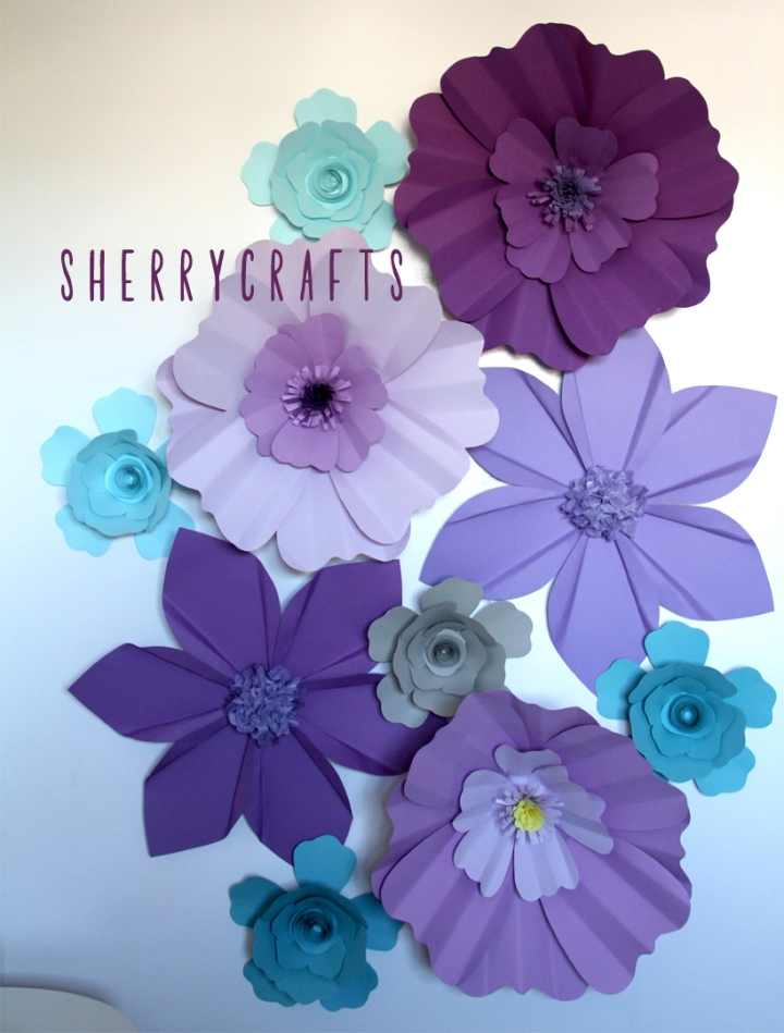 Diy Giant Paper Flower Backdrop Sherrycrafts
