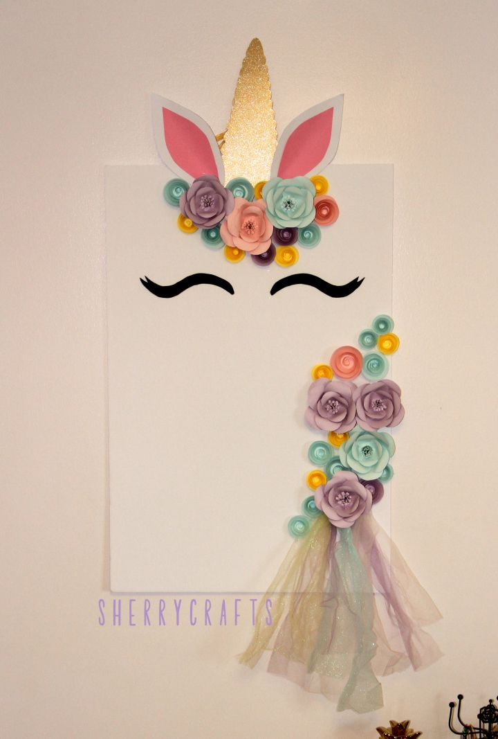 Super Cute & Easy DIY Paper Flower Unicorn Backdrop