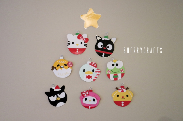 DIY Sanrio Christmas Ornaments
