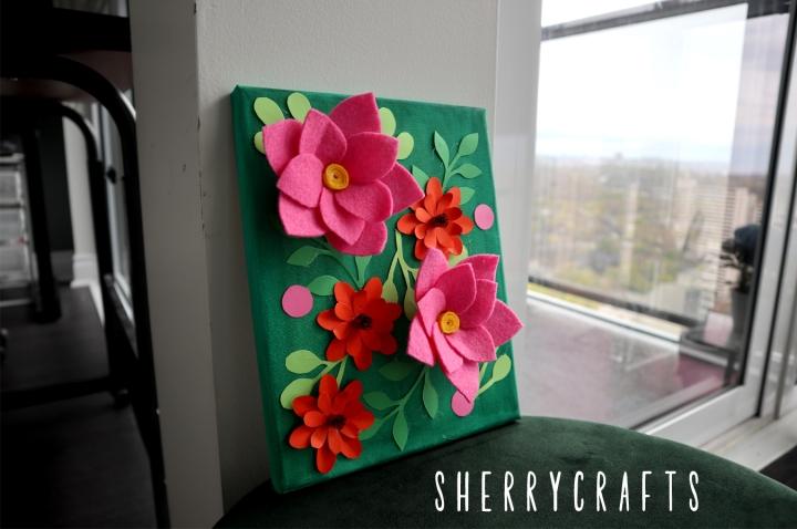 DIY Paper & Felt FlowerCanvas