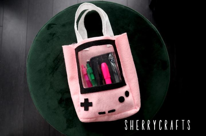 DIY Game Boy Tote (FREETemplates)